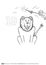 Monkey Stuff printable number 10